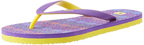 Sparx Women's Purple and Yellow Flip Flops and House Slippers - 4 UK  available at amazon for Rs.174
