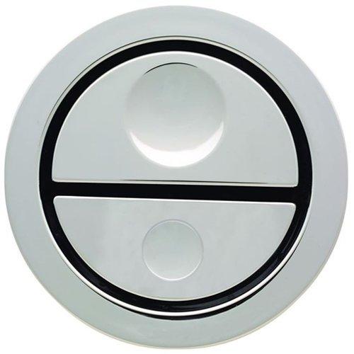 Geberit 241.413.21.1pneumatico a doppio scarico cromato wc pulsante per cassette AP109-Multicolore
