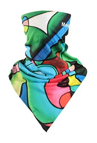 Écharpe d'équitation Masque triangulaire magique Masque d'accessoires de vélo Masque Art Rayon Vert