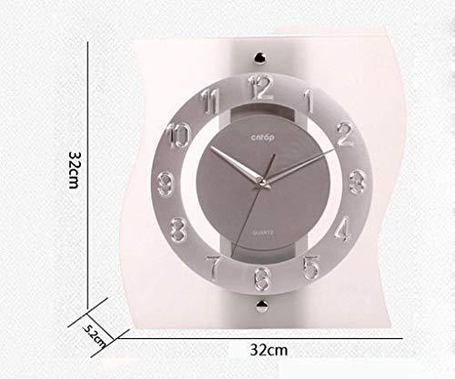 MJY8 Kreative Lounge-Uhren aus Glasuhr mit unregelmäßiger Uhr