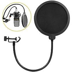 Microphone Filtre Anti-Pop - Wesho Pop Filtre Avec Double Couche Son Bouclier Guard Vent Popfilter Pour Blue Yeti Et Studio Studio D'Enregistrement