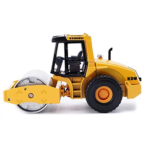 IVNGRI-Auto Model Straßenwalze Maßstab 1:50 Straßenwalze Druckgussmodell - Legierung Simulation Engineering Fahrzeugmodell Kinder Junge Spielzeug - 13,3 x 6 x 7,5 cm - Gelb (Kit Nissan Auto Model)