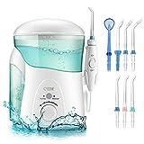 Elektrische Munddusche, Cozzine Professionelle Oral Wasserreiniger 600ml Wassertank Oral Irrigator mit 10 Wasserdruckeinstellungen 7 Funktionsdüsen Zahnreinigung für Ganze Familie (FDA/CE genehmigt)