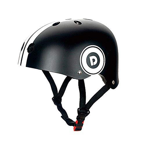 Lesrly-Cycle Fahrradhelm für Kinder, ABS-Schutzhelm für Rollschuhe, atmungsaktiv - Skateboarding/Radfahren/Urban Skateboard,Schwarz,S