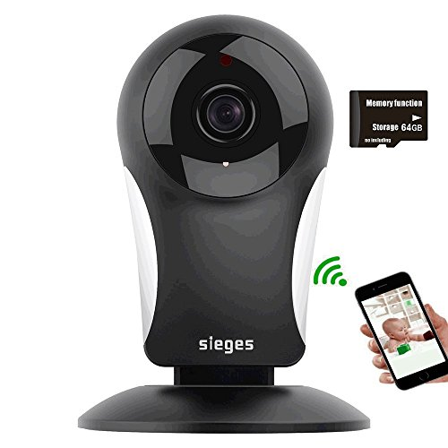 960P HD Baby monitor Wireless WIFI camera,SIEGES Two-way Audio Day/Night vision Elderly/Pet Smart Monitor Indoor& Outdoor Security Surveillance System Memory function Storage 64G for Android/iOS/PC(UK Model)