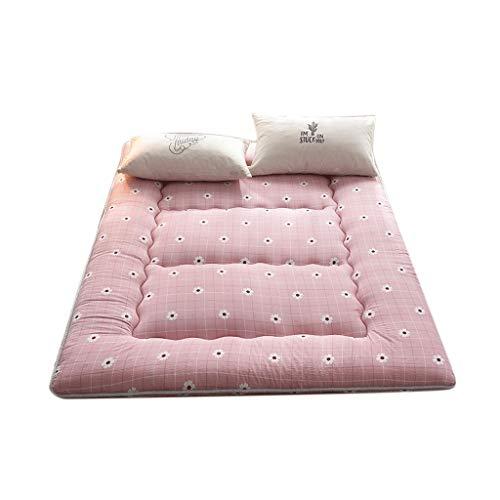 Matratze Futon Gast Baumwolle Tatami Faltbare Bett Rosa Für Mädchen Einzelne Studentenwohnheim Zimmer Pad (Size : 100 * 200CM) (100 Baumwolle Matratze Pad)