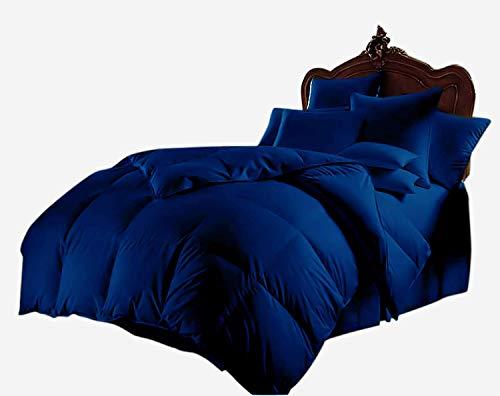 Royale Home Furnishing Bettdecken-Set, 800 Fadenzahl, 1 Schmusetuch und 2 Kissenbezüge, sehr weich, leicht, 100% Baumwolle, hypoallergen, Silikon, 300 g/m², Doppel-XL, Königsblau -