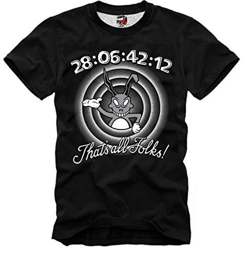 E1Syndicate T Shirt Donnie Darko 28:6:42:12 FRANK Nightmare Halloween ()