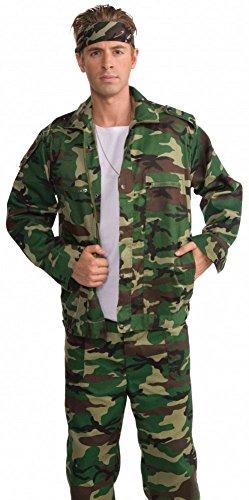 (shoperama Camouflage Herren Jacke Gr. M/L Army Armee Militär Krieger Camo Kämpfer grün)