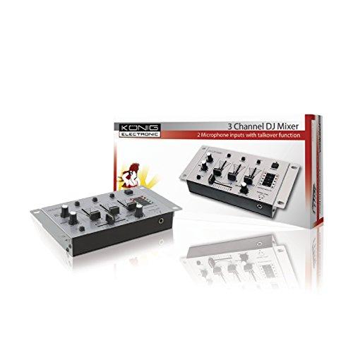 König KN-DJMIXER10 Table de mixage pour DJ avec 3 canaux