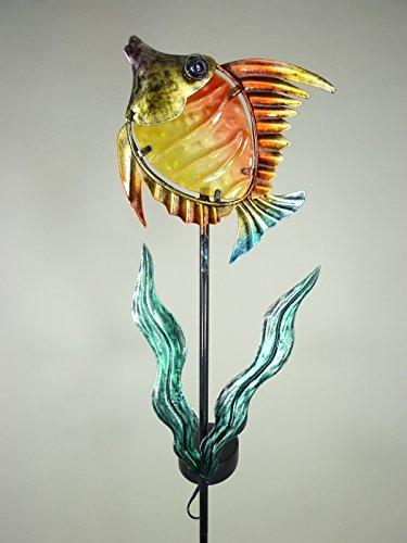 LED Solarleuchte Gartenleuchte Deko Figur Fisch Garten-Dekoration Blumentopf-Leuchte