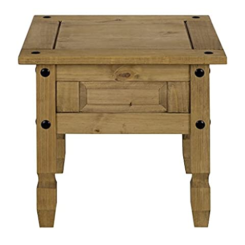 Corona Lamp Side Table - Mexican Solid Pine