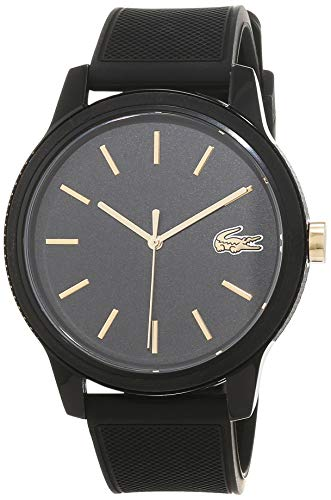 Lacoste Mens Analogue Classic Quartz Watch with Silicone Strap 2011010