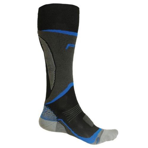 F-Lite TEC A 100 Chaussettes de Ski pour Femme Gris Noir/Bleu 35-38/3-5