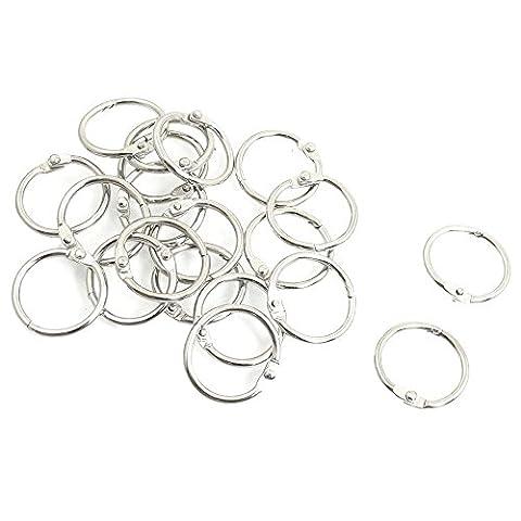 Nacpy Scrapbooking Metal Binder Ring Book Binder Ring O Ring Hinged Book Loose Leaf Binder Hinge Snap Ring 25mm 20 Pieces