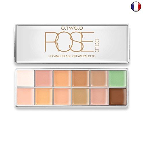 Palette Pro Cache / Anti-cernes Contouring crème 12 couleurs de O.TWO.O