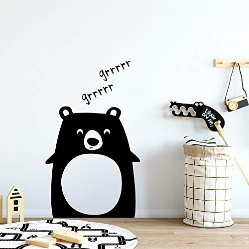 Cute Bear Wallstickers Entfernbare Wandaufkleber Tapete Für Baby Zimmer Jungen Schlafzimmer Dekor Wanddekoration Wandbild Gold 43 * 66 CM
