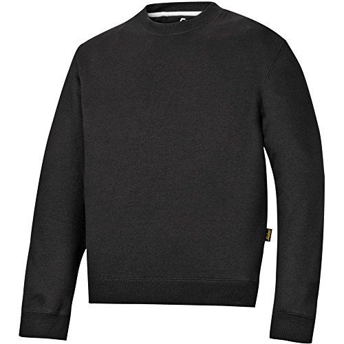Snickers Rundausschnitt Sweatshirt schwarz Größe: XXXL (Gebürstetes Fleece-shirt)