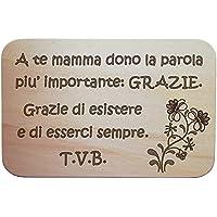 FESTA DELLA MAMMA Tagliere decorativo IDEA regalo per la casa con frase personalizzabile