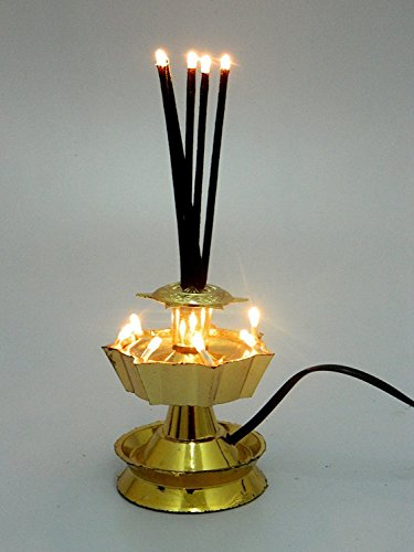 Electric Agarbatti Diya Golden Color  available at amazon for Rs.349