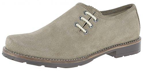 HIRSCHKOGEL Herren Haferlschuhe 1914501 Haferlschuhe Trachtenschuhe Trachten Lederschuhe Haferlschuh Herren Schuhe Lederhose, Größe:45 EU, Farbe:Taupe