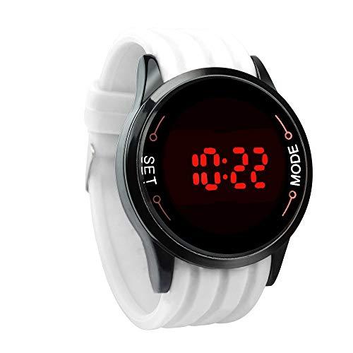 IG-Invictus Wasserdichte Herrenuhr LED Touchscreen Datum Silikon Handgelenk Schwarz Uhr WH Touchscreen Uhr Weiß SELFLOVER