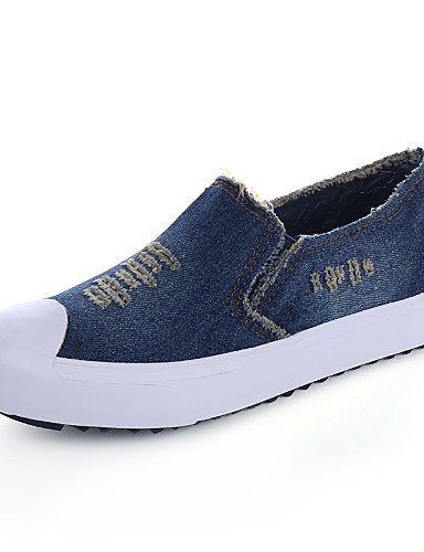 ZQ gyht Damenschuhe - Ballerinas / Halbschuhe / Slippers - Outddor / L?ssig - Denim Jeans - Flacher Absatz - Komfort / Rundeschuh -Schwarz / Blau light blue-us5.5 / eu36 / uk3.5 / cn35