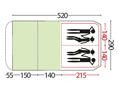 Bertoni-Comet-4-Maxi-Tunnel-Camping-Tent-Light-BlueGrey-Single-Size