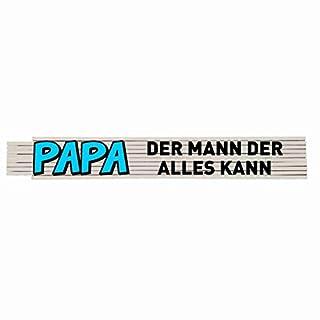 Zollstock mit Spruch: Papa der Mann der alles kann!