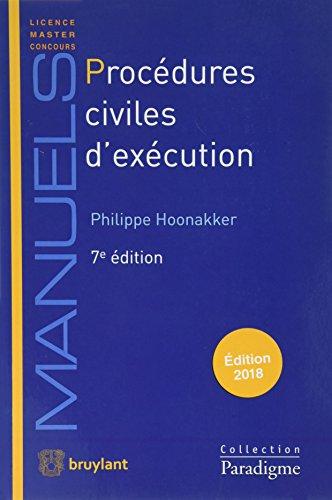 Procédures civiles d'exécution: Voies d'exécution - Procédures de distribution par Philippe Hoonakker