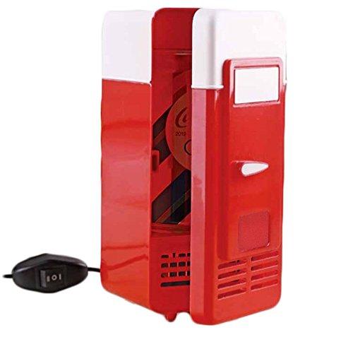 XW Single Gekühlter Usb-Kühlschrank Mini-Kühlschrank , Red,red
