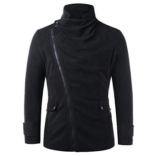 Cabanjacke Herren UFODB doppelreiher Männer Peacoat kurzjacke Trenchcoat Windjacke Lange Ärmel Reißverschluss Tasche Mantel Overcoat Strickjacke