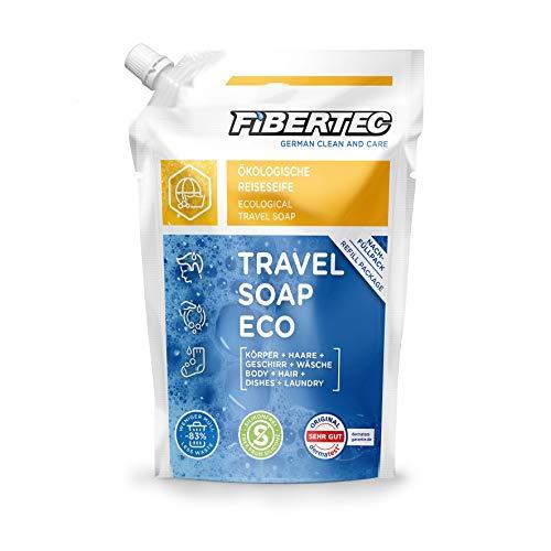 Fibertec Travel Soap Eco 500ml Nachfüllbeutel | Reiseseife | Alles-und-überall Seife | Outdoor Shampoo