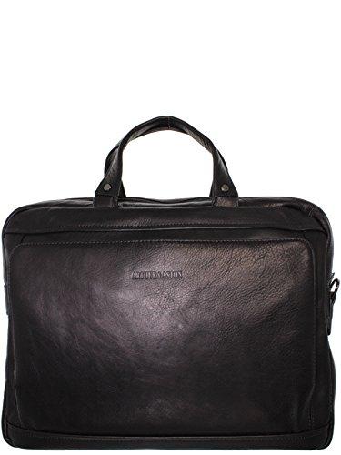 Serviette 2 compartiments cuir ARTHUR & ASTON Noir
