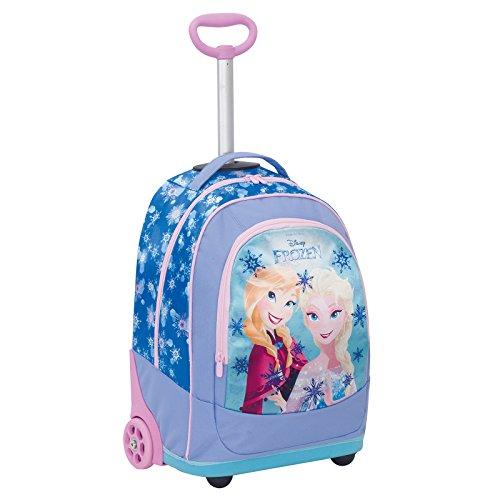 Big trolley disney , frozen , azzuro , 30 lt , 2in1 zaino  con spallacci a scomparsa , scuola & viaggio