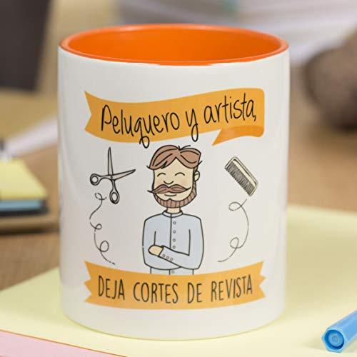 La Mente es Maravillosa - Taza frase y dibujo divertido (Peluquero y artista, deja cortes de revista) Regalo Peluquero