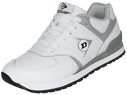 Dunlop Arbeitsschuhe OD 1 Berufs-Schuhe ohne Stahlkappe EN 347, rutschfeste Sohle, Weiß, Gr. 43