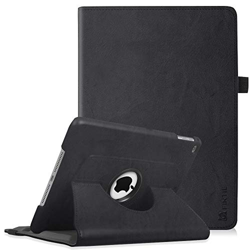 Fintie iPad 9.7 Zoll 2018 2017 / iPad Air Hülle - 360 Grad Rotierend Stand Cover Case Schutzhülle mit Auto Schlaf/Wach Funktion für Apple iPad 9,7'' 2018 2017 / iPad Air 2 / iPad Air, Klassik Schwarz
