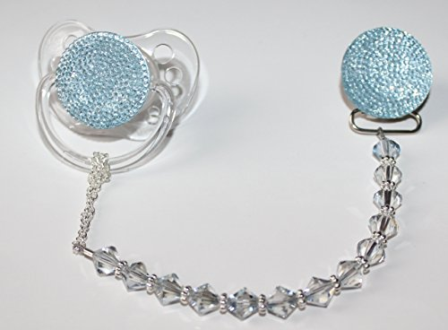 Crystal Dream ciuccio con Swarovski Crystals, Blu