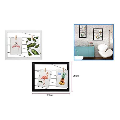 Dabuty Online, S.L.. Marco para Pared Decoracion con Cuerdas para Colgar Fotos. Color Negro. Medidas 25x30cm.