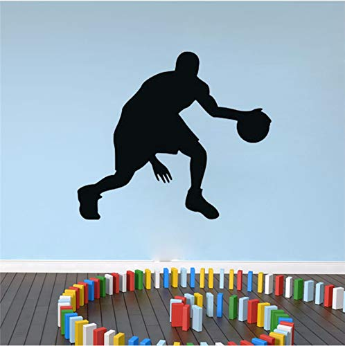 Wuyyii 44X48 Cm Sportler Spielen Basketball Wandaufkleber Kinder Schlafzimmer Wanddekor Vinyl Klebstoff Sport Wandtattoos