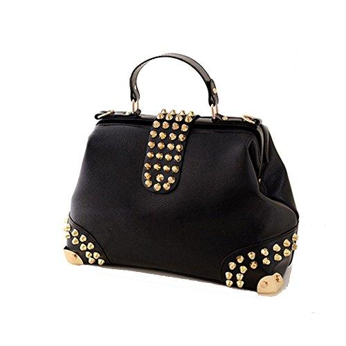 cchuang-european-and-american-fashion-handbags-casual-shoulder-bag-rivets-messenger-bagblack