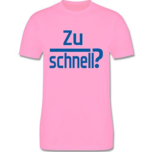 Laufsport - Zu schnell - Herren Premium T-Shirt Rosa