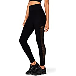 AURIQUE Leggings de Deporte Mujer, Negro (Black), 38 (Talla del fabricante: S)