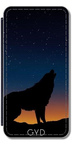 Leder Flip Case Tasche Hülle für Apple iPhone 5/5S - Wolf Tier Wildtier Niedlich by Grab My Art Lederoptik