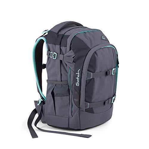 Satch Pack Mint Phantom, ergonomischer Schulrucksack, 30 Liter, Organisationstalent, Grau/Mint -