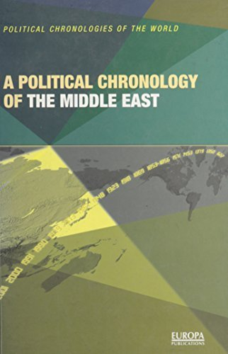 A Political Chronology of the Middle East (Political Chronologies of the World) by Europa Publications (2001-10-25)