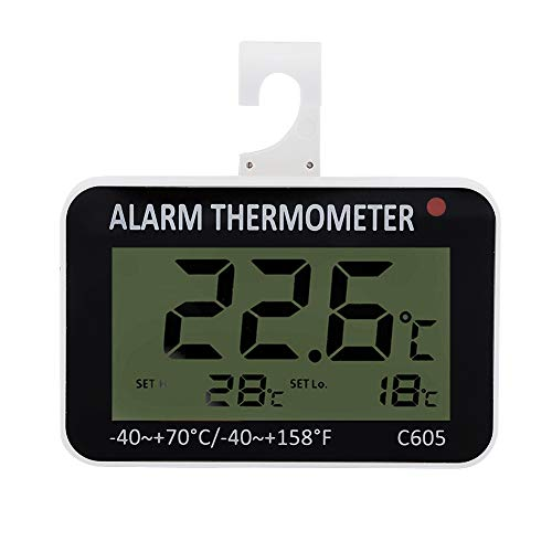 Kühlschrank Thermometer Wasserdichtes Digitales Gefrierschrank Thermometer mit Haken großer LCD Anzeige Perfekt für Hause Bars Cafés Tiefkühltruhe Weinkühlschrank usw