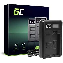 Green Cell® CBC-E5 LC-E5 Chargeur pour Canon LP-E5 Batterie et EOS 450D, 500D, 1000D, Kiss F, X2, X3, Rebel T1i, XS, XSi Caméras (5W 8.4V 0.6A Noir)
