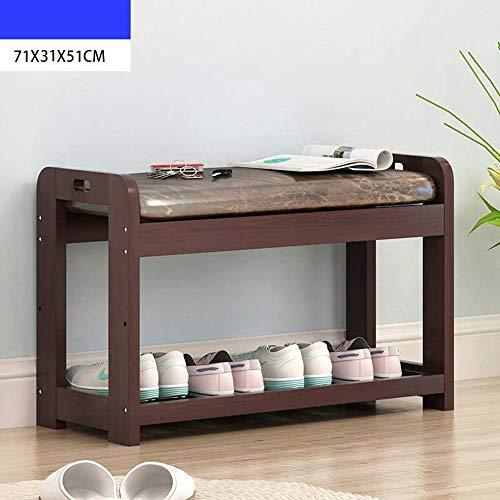 ZR- Schuhregal Holz Organizer Ständer Klein 2 Tier Regale Bank Mit Sitz Box Schrank/Sonoma Oak Effect Kissen - Wanddekoration (Farbe : 1 layers-71X60X30cm) -